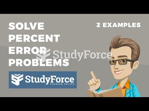 How to solve any percent error problem