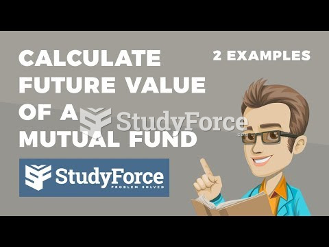 How to calculate the future value of a mutual fund