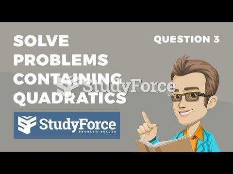 How to solve application problems containing quadratics (Question 3)