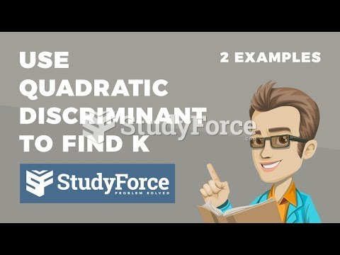 How to use the discriminant to determine the value of k in a quadratic with no real roots