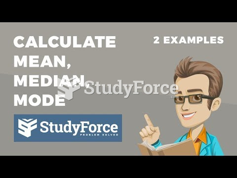 How to calculate mean, median, and mode