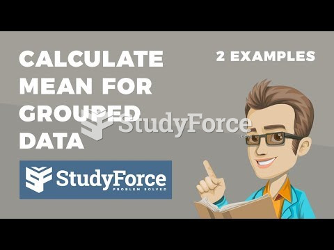 How to calculate the mean for grouped data