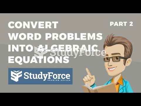 How to convert verbal statements into algebraic equations (Part 2)