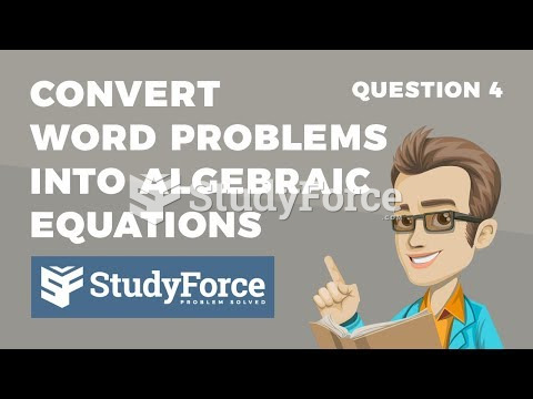 How to convert verbal statements into algebraic equations (Part 4)