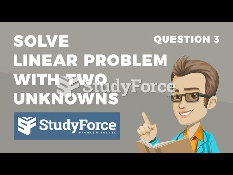 How to solve word problems with two unknowns (Question 3)