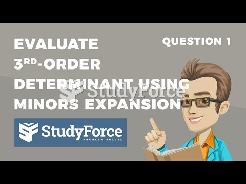 How to evaluate third-order determinants by Minors Method (Question 1)