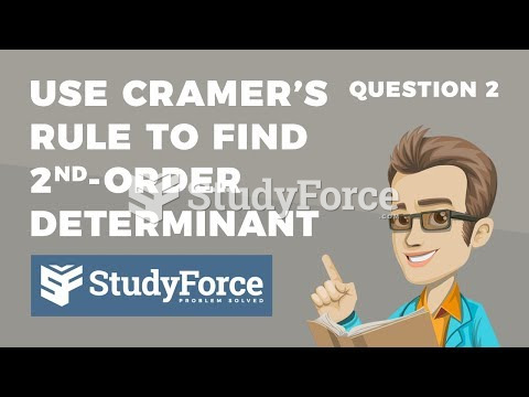 How to use Cramer's rule to solve a second-order determinant (Question 2)