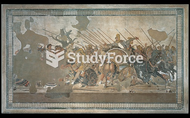 Alexander the Great Confronts Darius III at the Battle of Issos