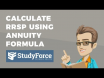 How to calculate RRSP using the annuity formula
