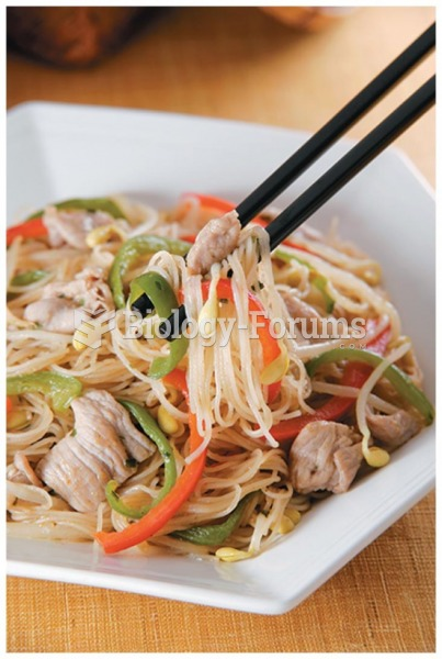Rice noodles are a good gluten-free substitute for pasta