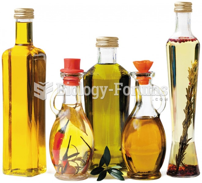 Vegetable oils are good sources of essential fatty acids