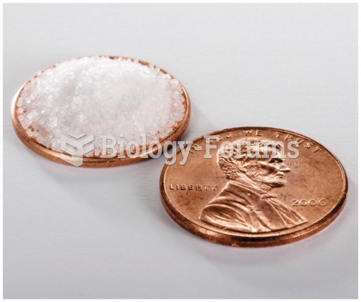 The penny shown below is covered with about 180 milligrams of sodium