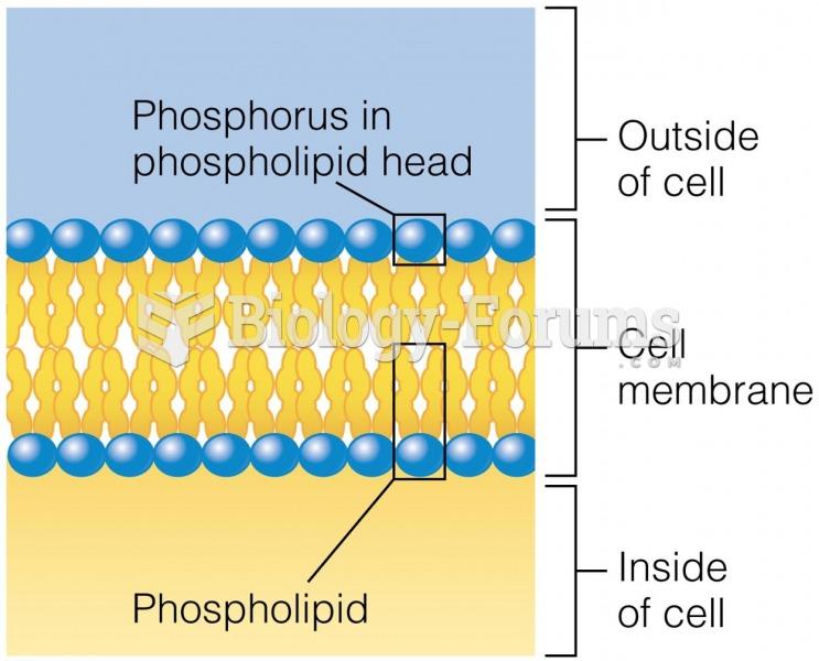 Phosphorus in Phospholipids Phosphorus makes up part of the phospholipids found in cell membranes