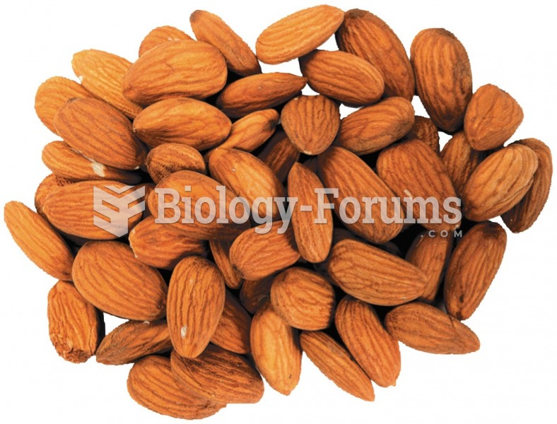 Almonds contain high levels of healthy unsaturated fatty acids