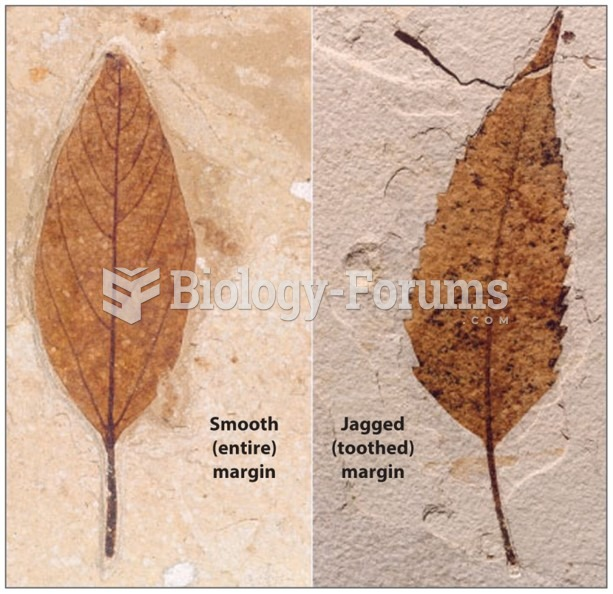In plant fossils, leaf margin is used to estimate mean annual temperature