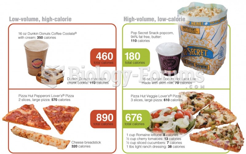 The Volume of Food You Eat Affects Satiety Low-volume