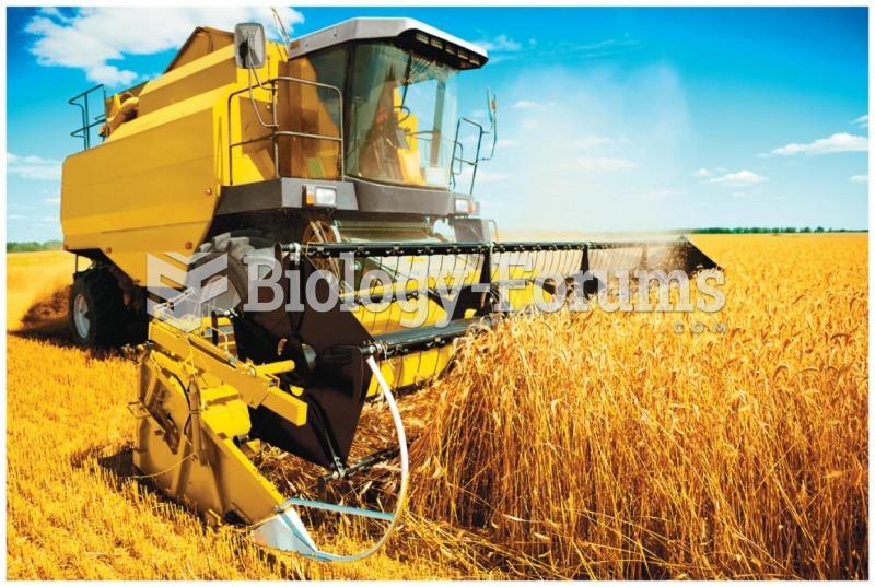 Modern machinery has helped farmers increase yields