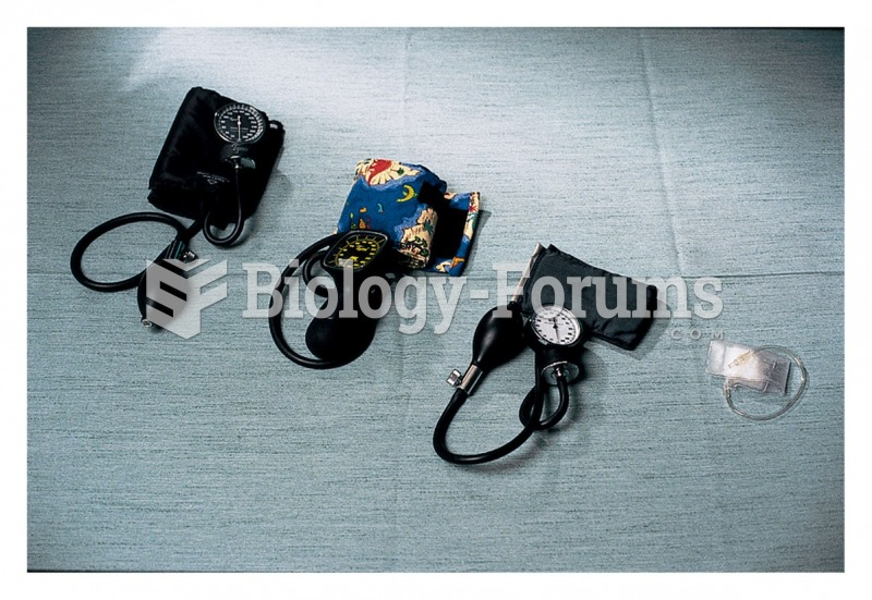 Blood pressure cuffs are available in various types and sizes for infants and children