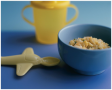 Using child-sized dishes at mealtimes can help caregivers monitor portion sizes