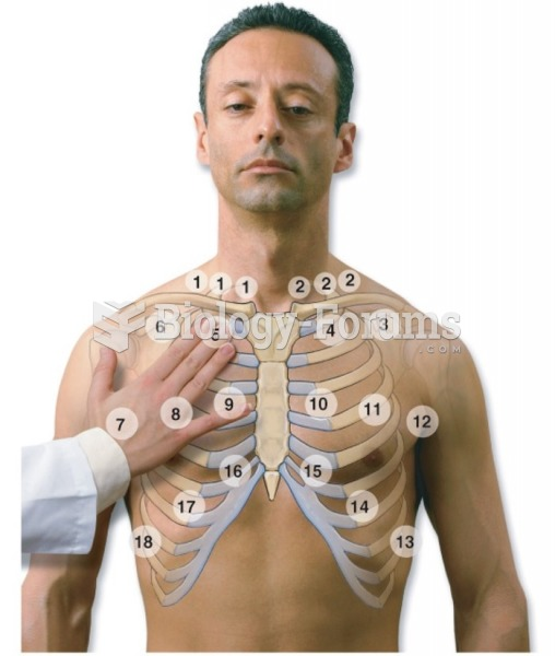 Pattern for palpation: Anterior thorax