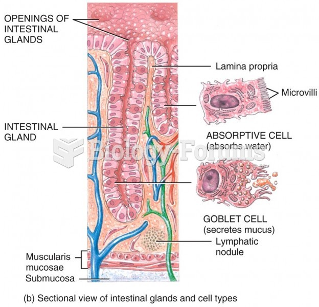 Glands and Cell Types of the Colon