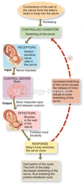 Control of Homeostasis: Positive Feedback
