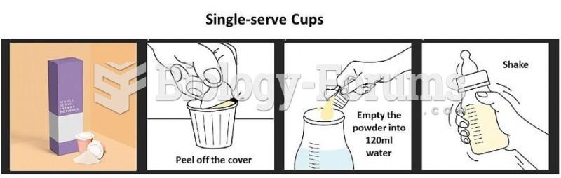 Single-serve cups of infant formula