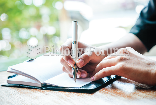 Writing can lead to psychological benefits