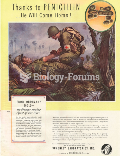 Penicillin saved the lives of many soldiers in World War II