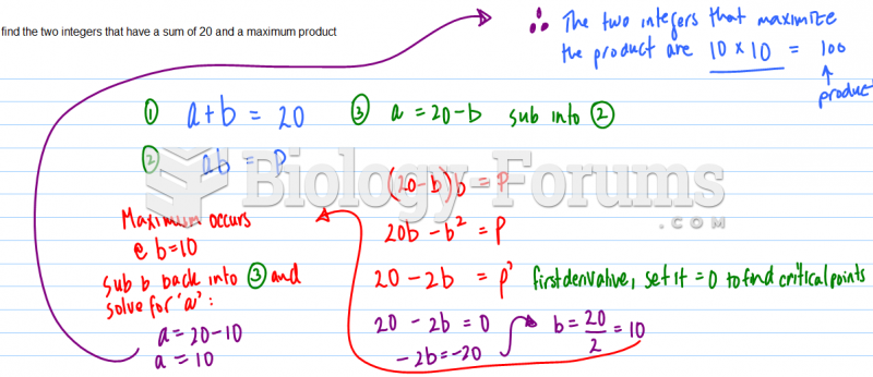 Find the two integers that have a sum of 20 and a maximum product