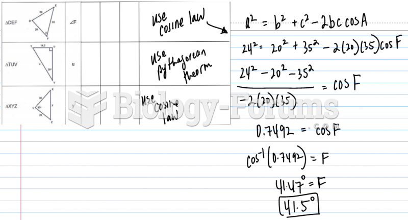 Provide the given and then write the formula and solve