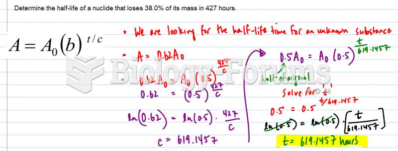 Half-life formula