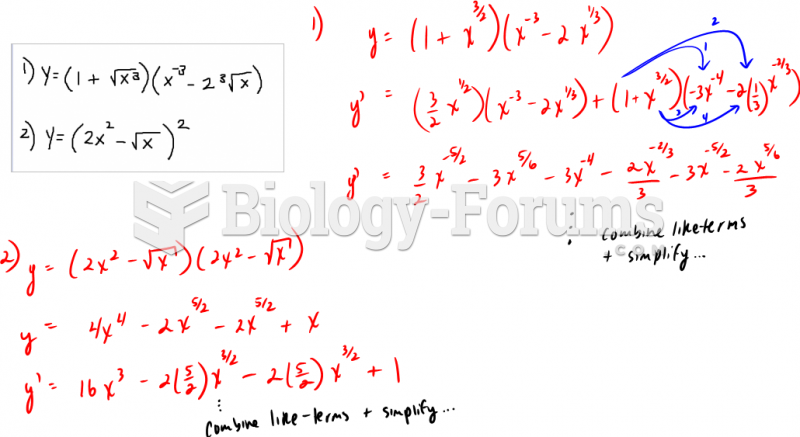 Use the product rule to find derivative