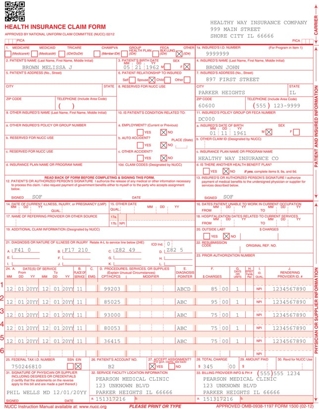 1500 claim form assignment I also request payment of government benefits either to myself or to the party who accepts assignment form 1500 (02 -12) please print or insurance claim form.