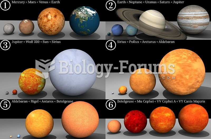 Stars vary widely in size.
