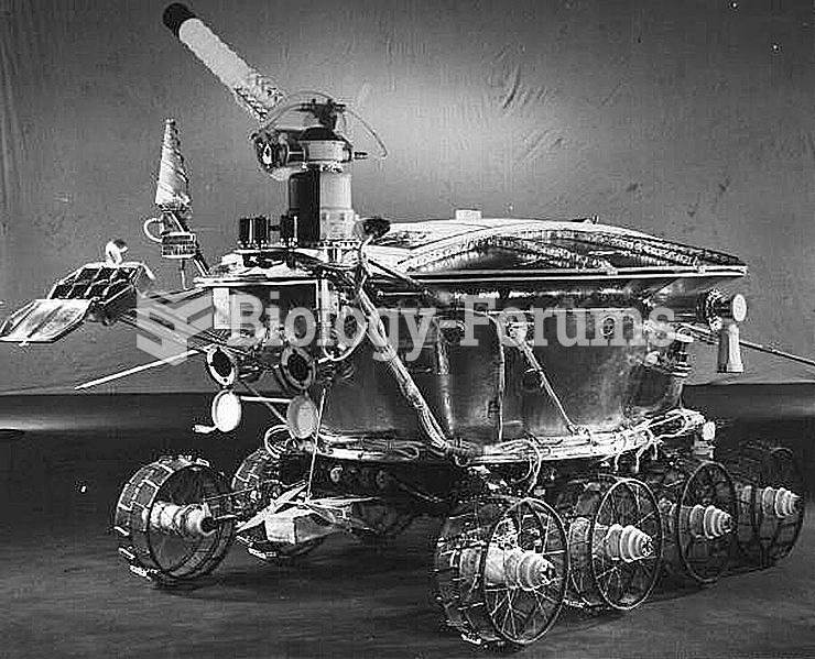Lunokhod 1 (lit. moonwalker), the first successful space rover.