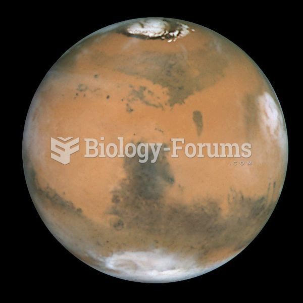 True-color view of Mars seen through NASA's Hubble Space Telescope in 1999