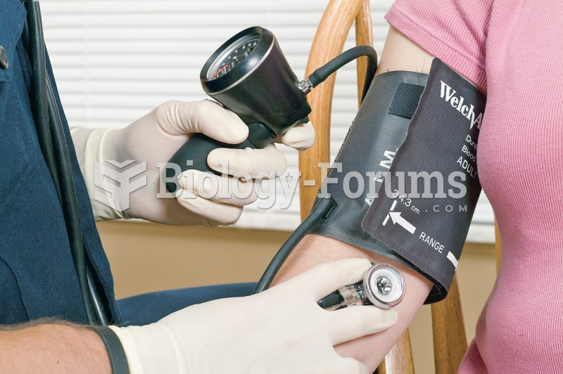 Using a sphygmomanometer to measure blood pressure.