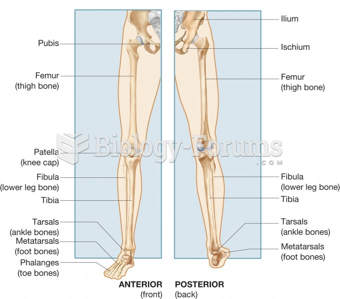 Anatomical and common names for the pelvic girdle and lower extremity.