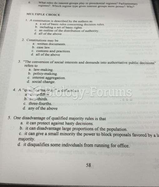 Chapter 6 Comparative Gov pg. 1 quiz
