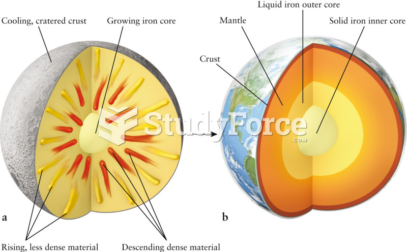 Cutaway Model of Earth