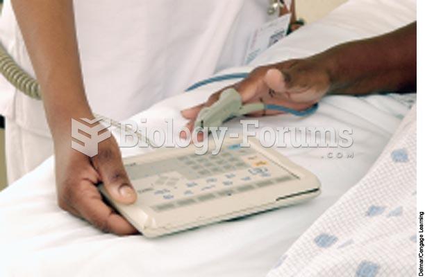 The nurse applies a pulse oximeter sensor on the client's finger.