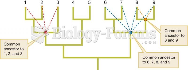 Interior nodes represent common ancestors