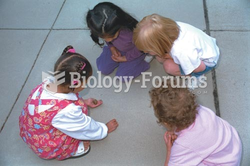 These young children are taking the initiative to explore their environment as they examine a snail