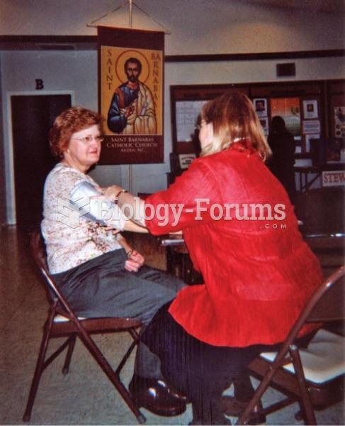 A parish nurse checks the blood pressure of a church member