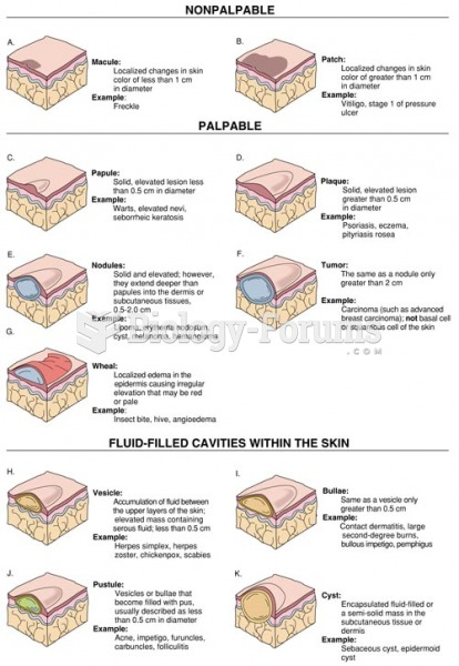 Morphology of Primary Lesions