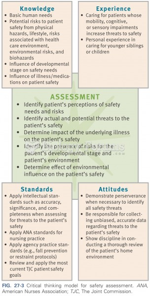 Critical thinking model for safety assessment