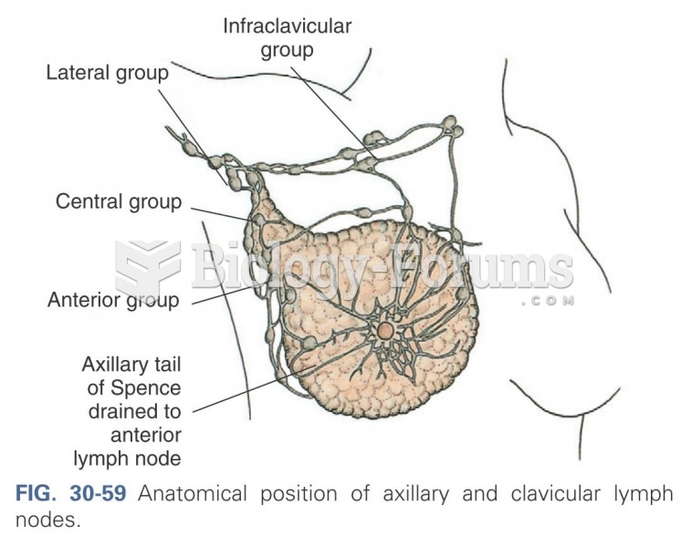 Anatomical position of axillary and clavicular lymph