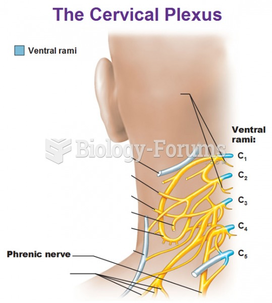 Cervical plexus with position drawing