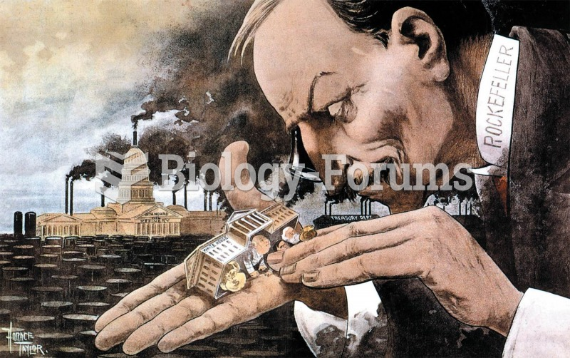 In this 1900 cartoon, oil baron John D. Rockefeller holds the White House in the palm of his hand wh